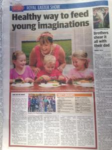 Daily Telegraph....Ms Honey's very chuffed! 18 April 2014
