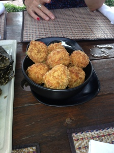 Would you believe in Laos we had Arrancini Balls (little deep fried risotto balls)? Very Italian
