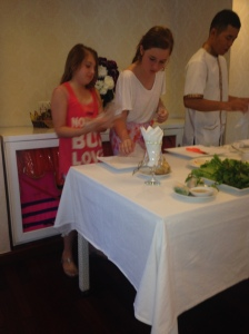 Cooking Class - Chuppa Chupp and Little Schnitz learn the art of Rice Paper Rolls.